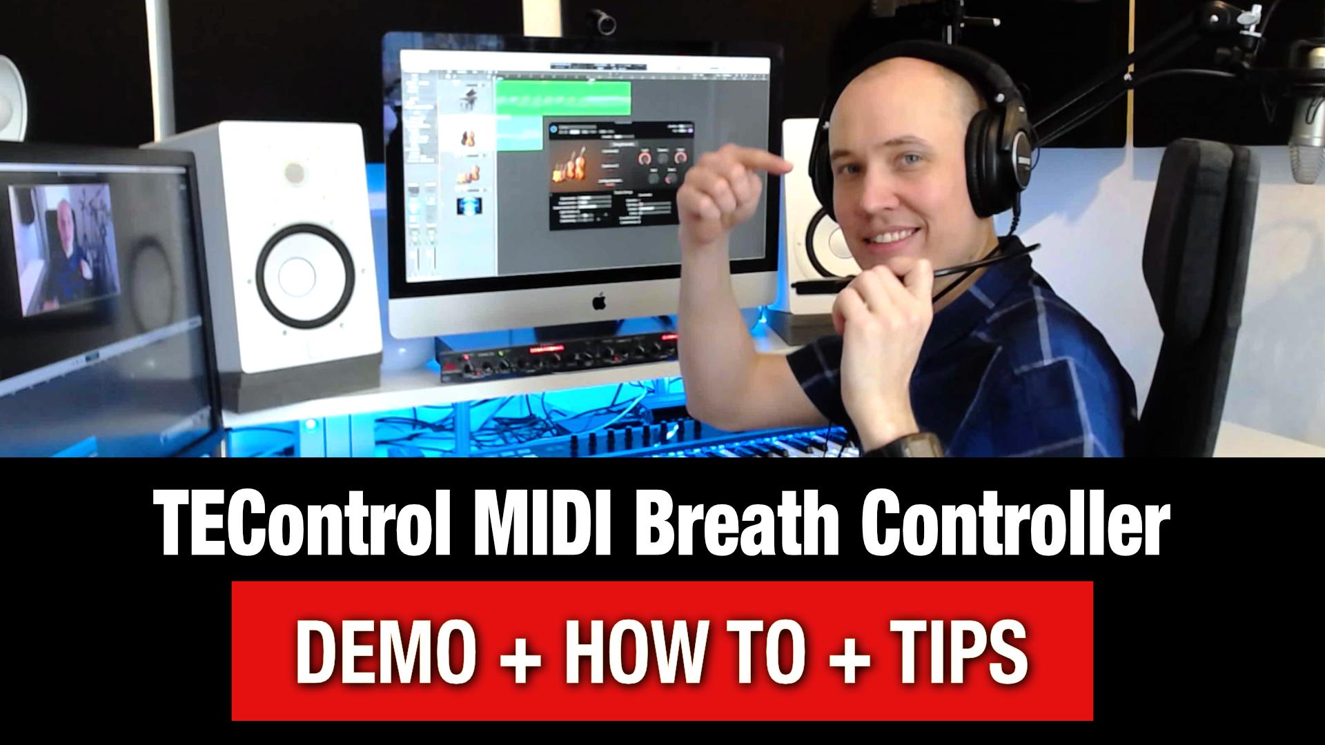 How to use a MIDI Breath Controller (TEControl Tutorial)