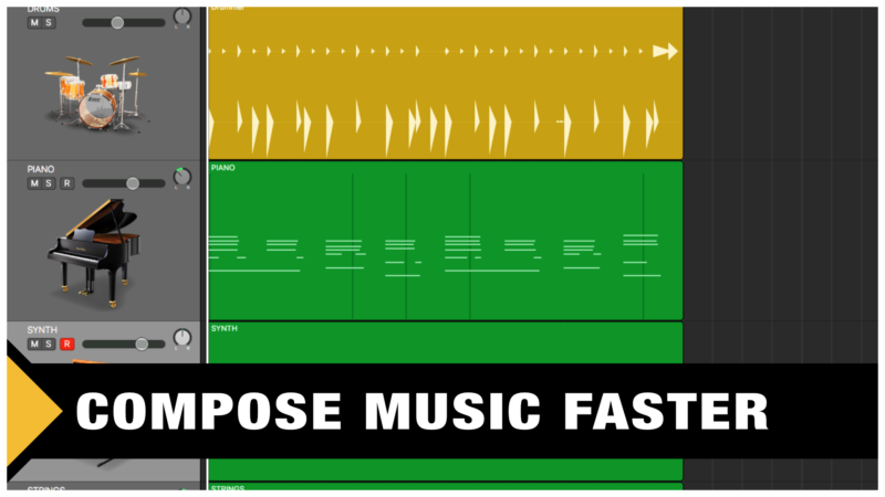 Compose Music Faster (Rocket Speed)