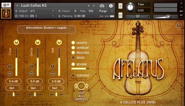 Afflatus Strings (interface)