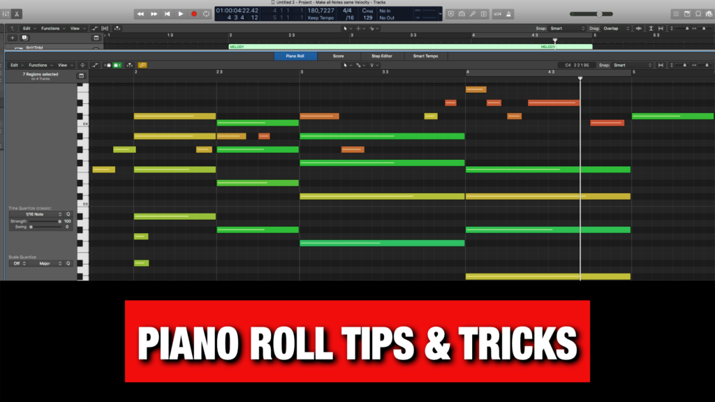 Logic Pro X Piano Roll (Tips & Tricks)