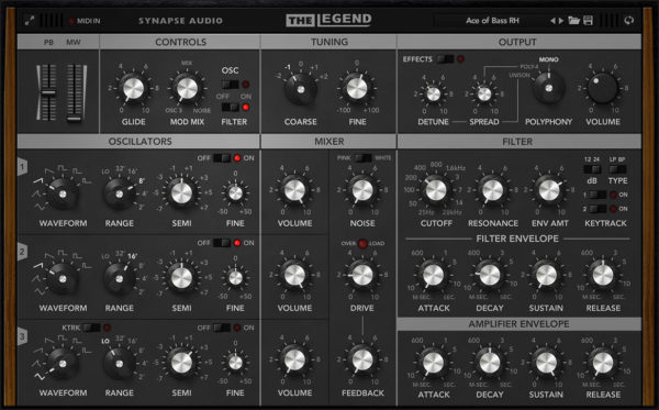 The Legend Synth VST Plugin