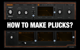 How to make Pluck Synth Sounds