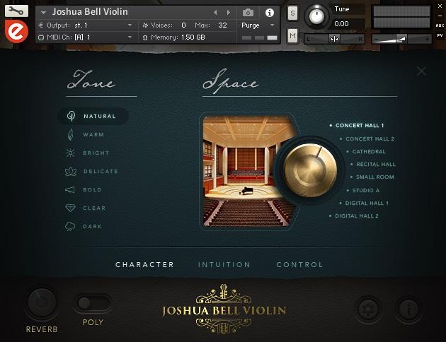 Joshua Bell Violin Tone Control