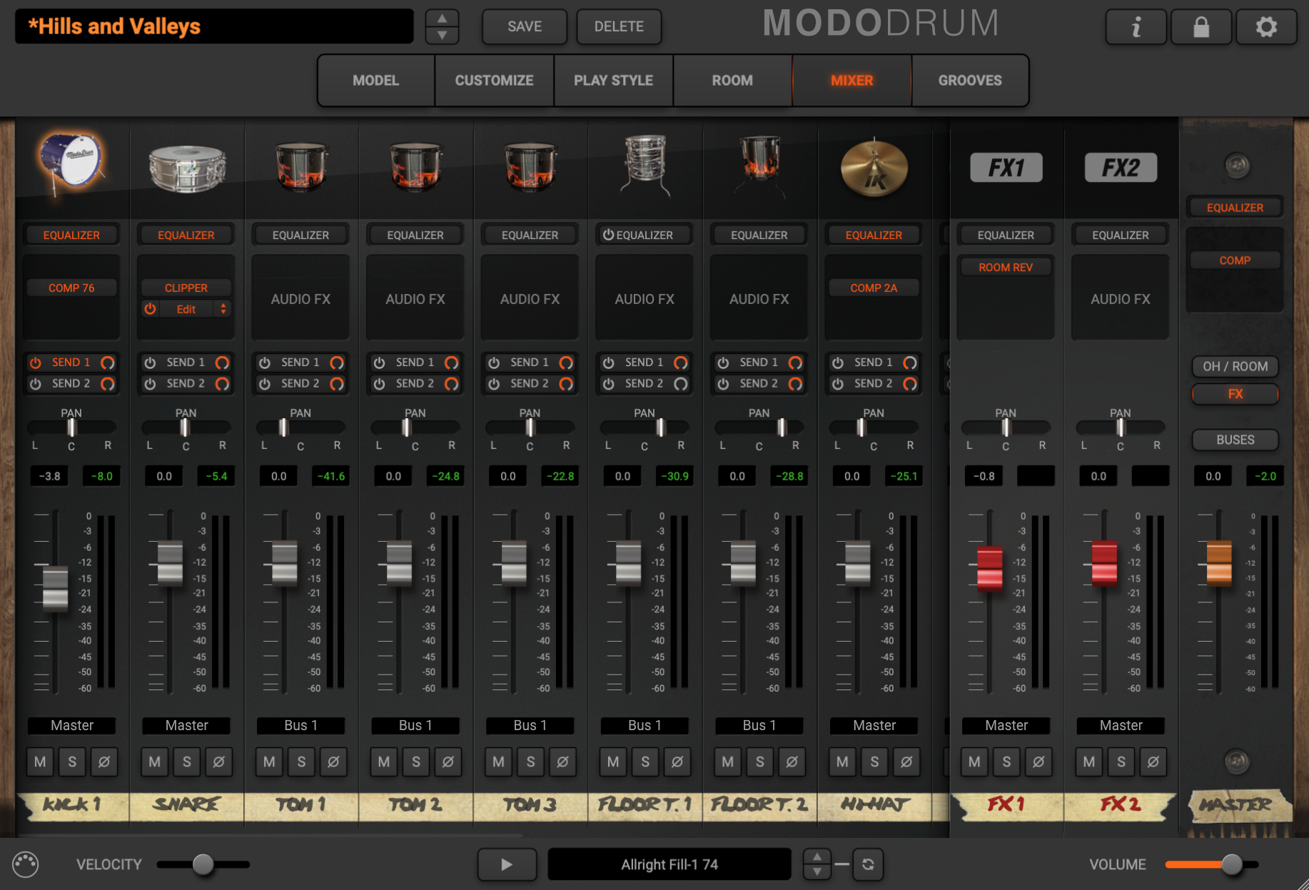 MODO Drum - Mixer