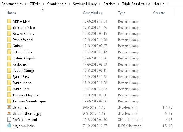 Omnisphere Library - Folders