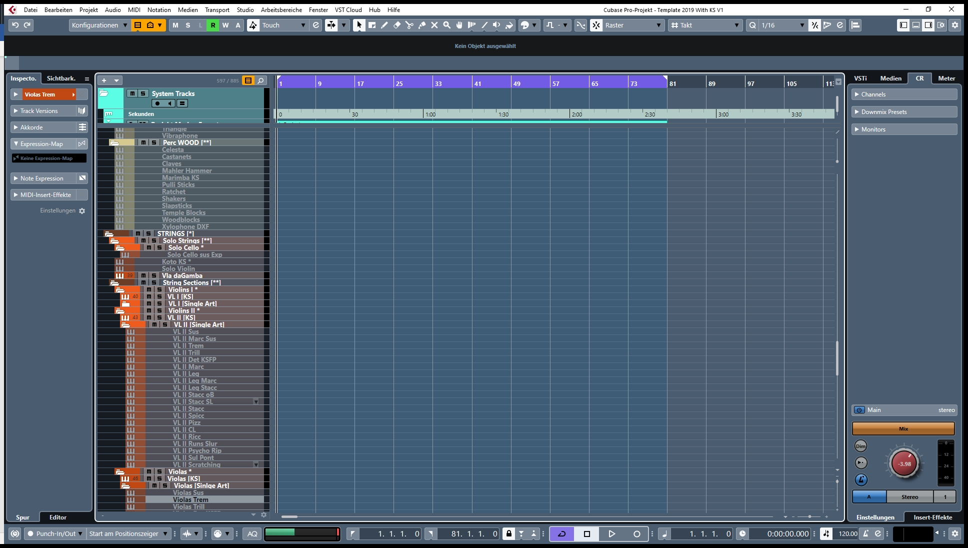 DAW Project Template - Multiple Techniques