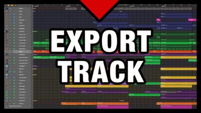 Export Track in Logic Pro X