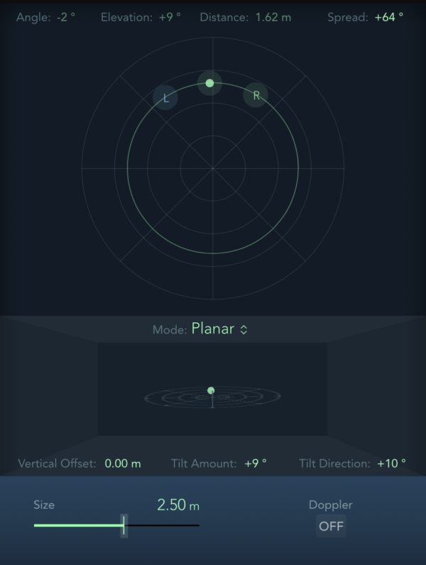 Binaural Panning Settings