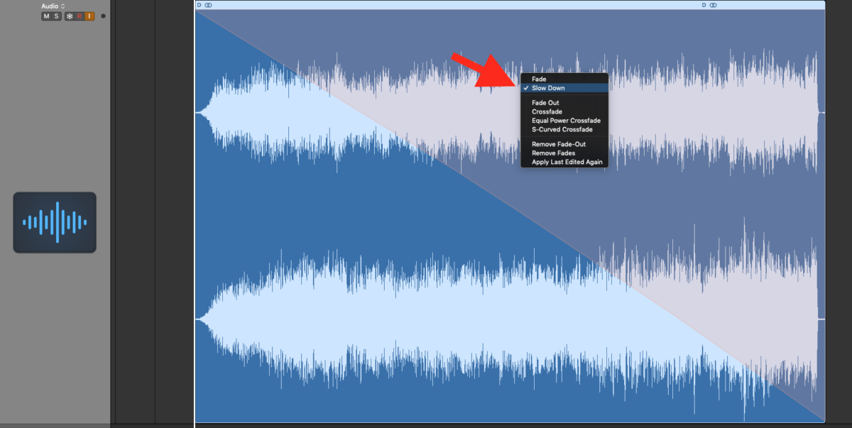Tape Stop Slow Down Audio Effect in Logic Pro X