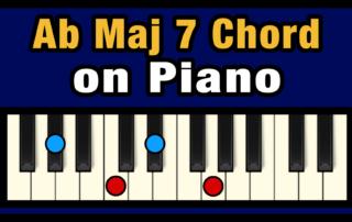 Abmaj7 Piano Chord