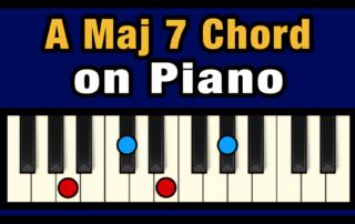Amaj7 Piano Chord