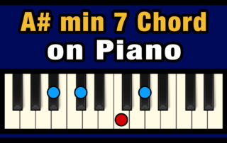 A#min7 Piano Chord