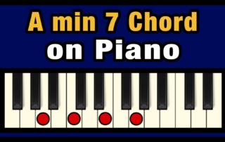 Amin7 Piano Chord