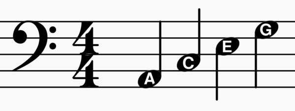 Bass Clef - Note Names (Spaces)