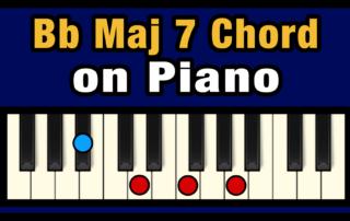 Bbmaj7 Piano Chord