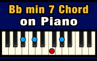 Bbmin7 Piano Chord