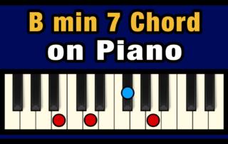 Bmin7 Piano Chord