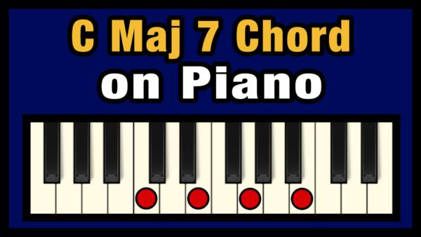 Cmaj7 Piano Chord
