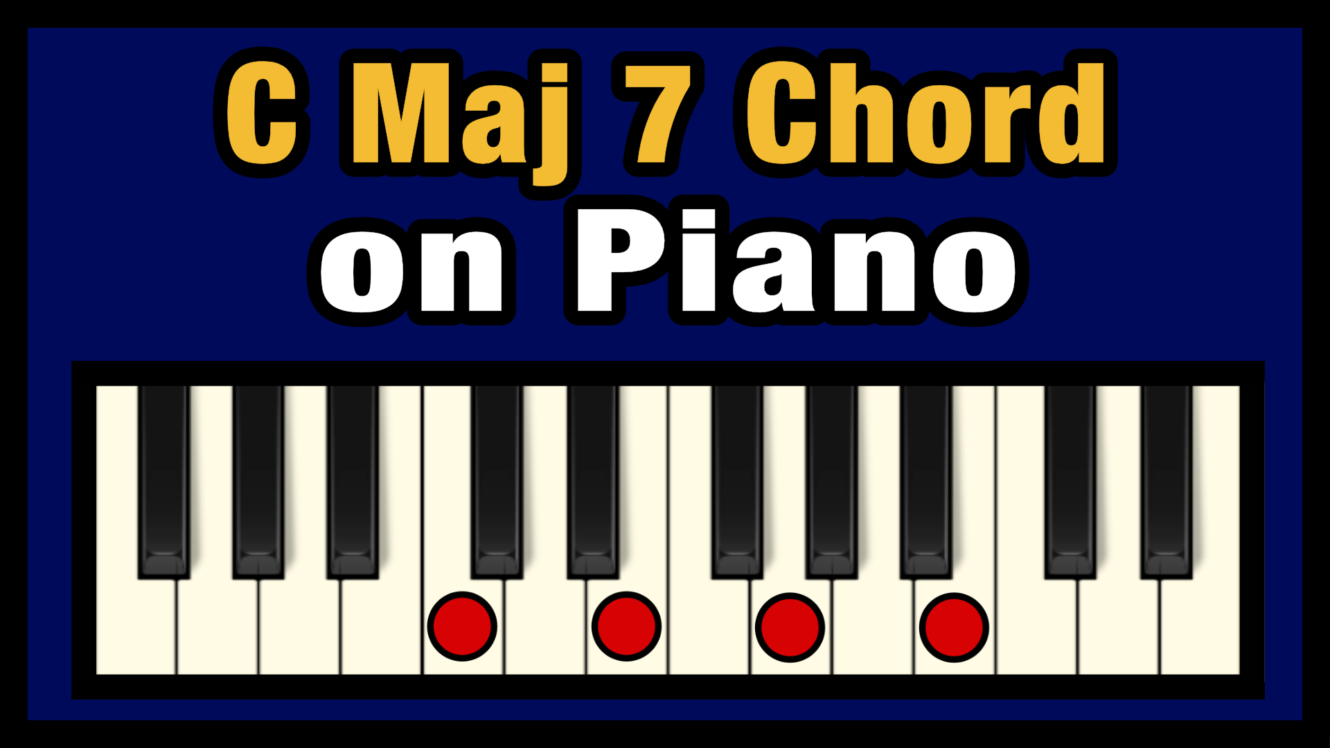 C Maj 15 Chord on Piano Free Chart   Professional Composers