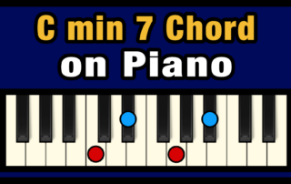 Cmin7 Piano Chord