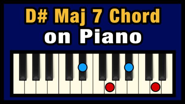 D#maj7 Piano Chord
