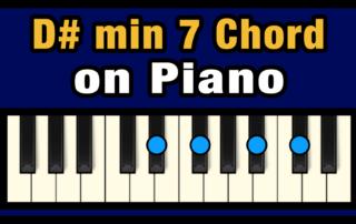 D#min7 Piano Chord