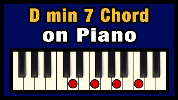 Dmin7 Piano Chord