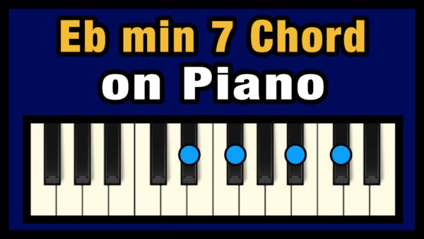 Ebmin7 Piano Chord