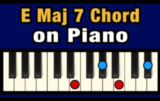 Emaj7 Piano Chord