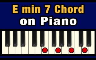 Emin7 Piano Chord