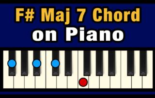 F#maj7 Piano Chord
