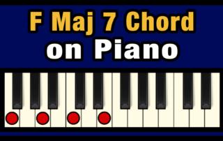 Fmaj7 Piano Chord