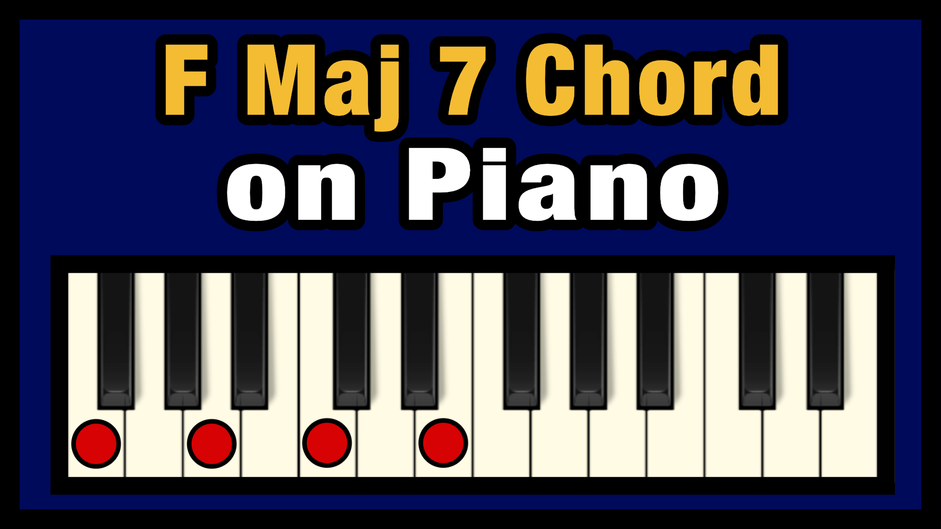 F Maj 15 Chord on Piano Free Chart   Professional Composers