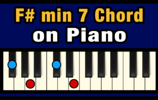 F#min7 Piano Chord