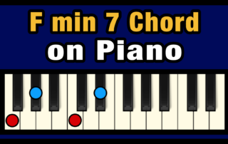 Fmin7 Piano Chord