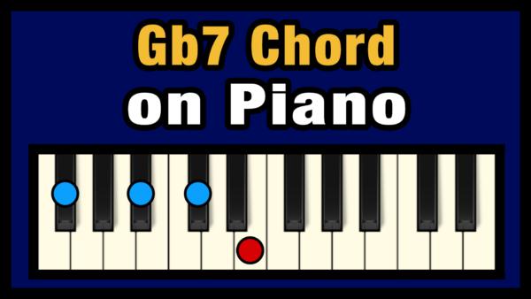 Gb7 Piano Chord