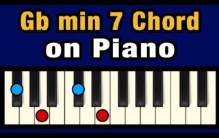 Gbmin7 Piano Chord