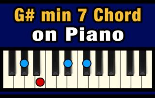 G#min7 Piano Chord
