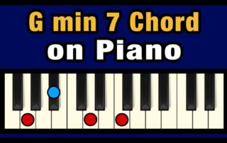 Gmin7 Piano Chord