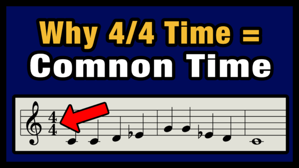 4/4 Time Signature is Common Time
