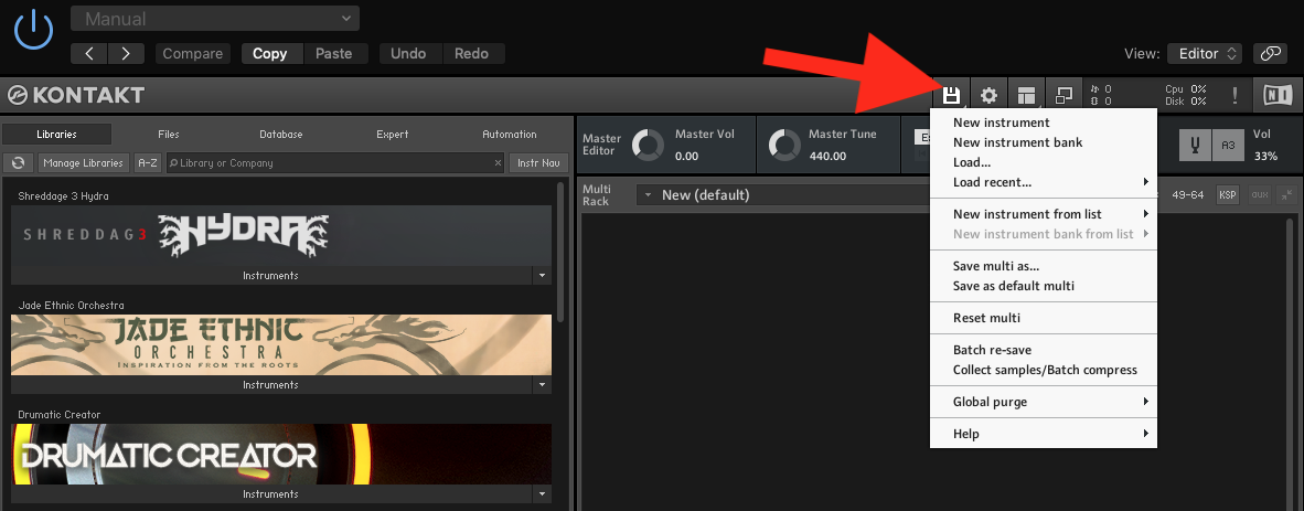 How to Batch Re-save in Kontakt - Step 1