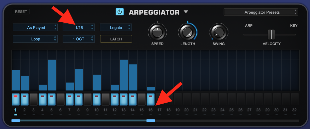 How to use an Arpeggiator - Step 1