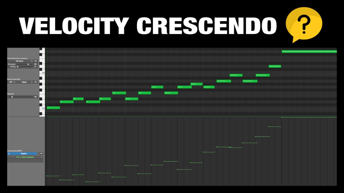 Velocity Crescendo in Logic Pro