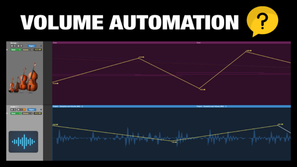 Volume Automation in Logic Pro